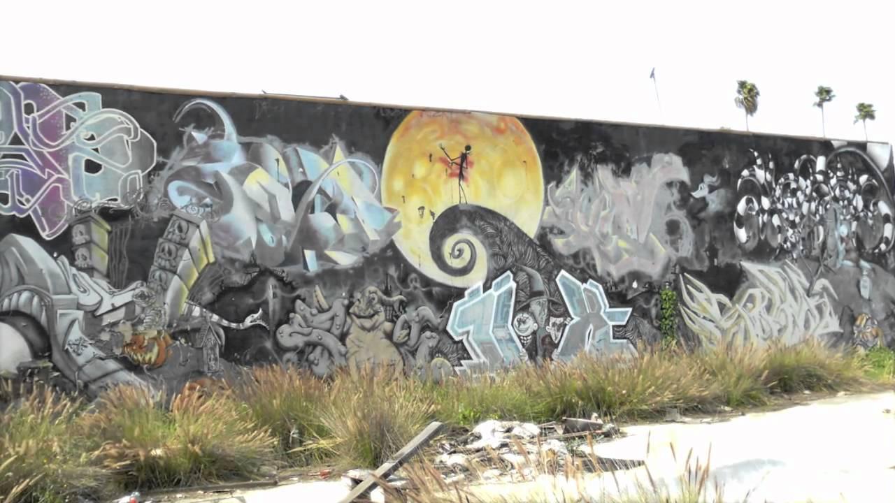 Atlas Nightmare Before Christmas Graffiti Wall Boyle Heights Youtube