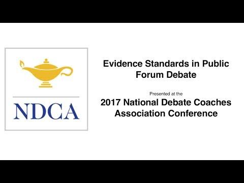 Evidence Standards in Public Forum Debate