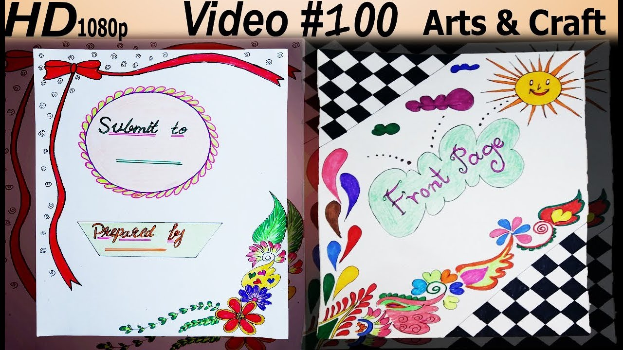 Cover Page Design Video 100 Arts Craft Youtube