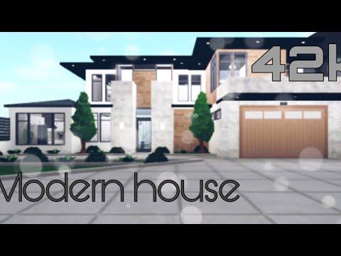 Roblox Bloxburg 42k Modern House Youtube