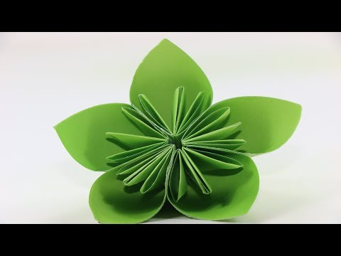 How to make a Kusudama Paper Flower   Easy Origami Kusudama for beginners   Origami Kusudama Flower