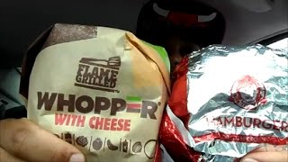 Burger King Whopper Vs Wendy