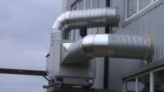 Система воздушного отопления на текстильной фабрике в Хмельницком.