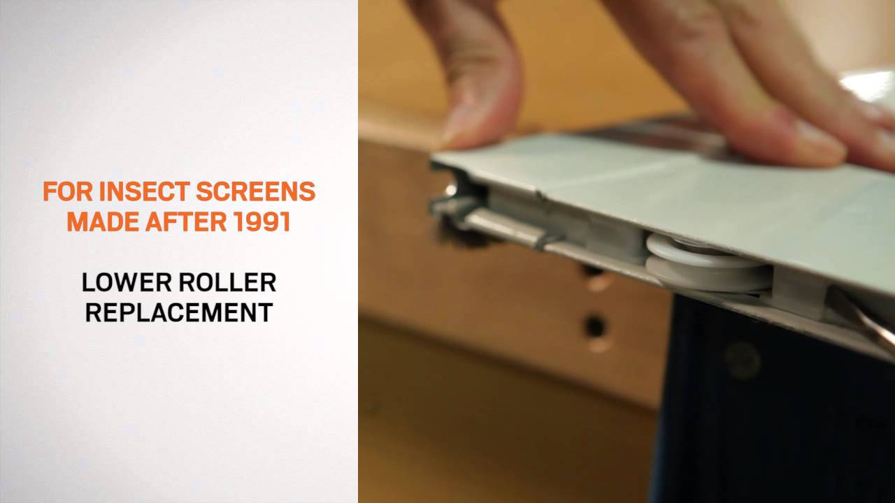 Replacement and Adjustment of Rollers on Andersen Gliding Patio Door Insect Screens  YouTube