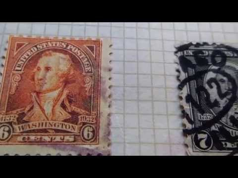 Group of 1932 Washington Stamps & Airmail Postage Stamps