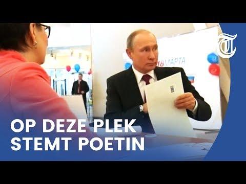 Zelfverzekerde Poetin stemt in Moskou