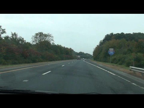 Driving on I 395 - Approaching Route 167 Scenic Drive