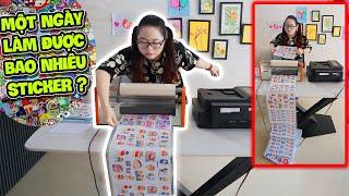 Thử Thách 24H Chỉ Làm Hình Dán Sticker Bằng Máy