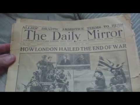 DAILY MIRROR NEWSPAPER,NOVEMBER 12,1918  ARMISTICE,FIRST WORLD WAR
