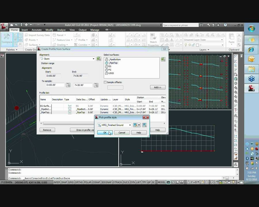 How Can Make Profil In AutoCAD For Pipe Line&Box Culvert_4