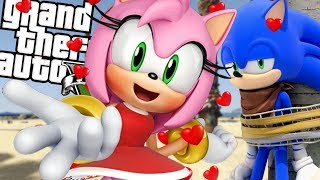 SONIC THE HEDGEHOG brings back AMY ROSE MOD (GTA 5 PC Mods Gameplay)