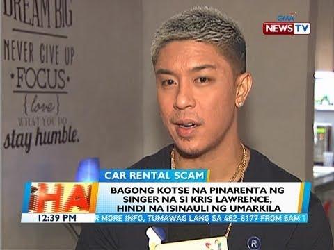 BT: Bagong kotse na pinarenta ng singer na si Kris Lawrence, hindi na isinauli ng umarkila