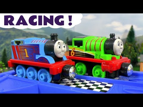 Thomas & Friends Racing Toy Train stories with Cars McQueen - Train toys for kids and children TT4U
