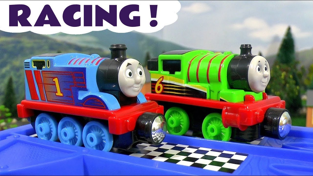 Thomas & Friends Racing Toy Train stories with Cars McQueen - Train toys for kids and children T
