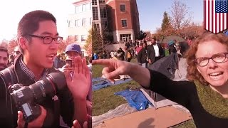 University of Missouri: Bully professors and students harass reporters covering protests - TomoNews