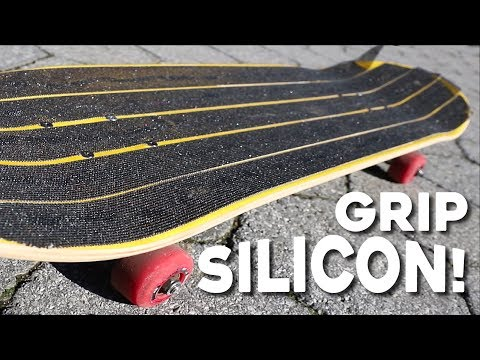 SILICONE SKATEBOARD GRIPTAPE?! *The Perfect Grip!*