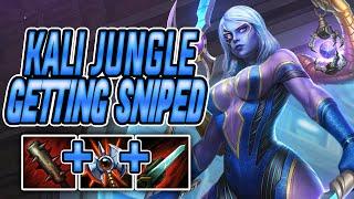 GETTING SNIPED Kali Jungle  SMITE Conquest Season 7