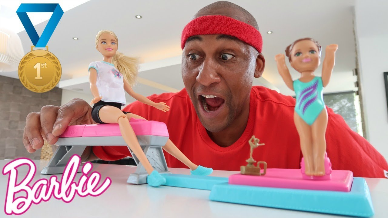 Daddy Opening Barbie Gymnastics Toys Toys Anddad Youtube