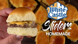 I made WHITE CASTLE Sliders at home, way BETTER!