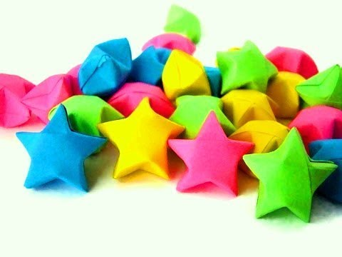 How to make a Bubble Star? - Origami Lucky Star - Origami Paper Bubble Star - DIY Paper Crafts