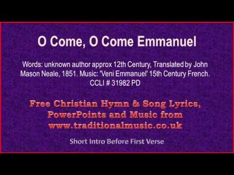 O Come, O Come Emmanuel - Christmas Carols Lyrics & Music