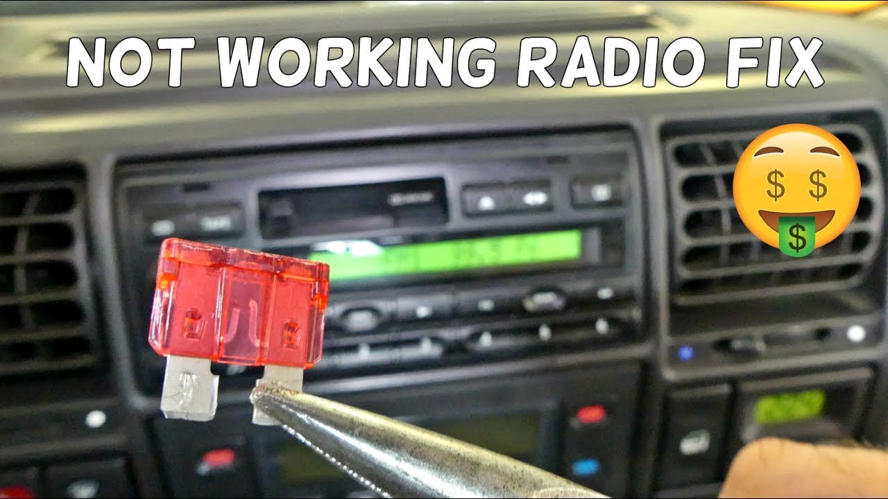 How To Fix Not Working Radio Does Turn On