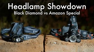 Headlamp Showdown: Black Diamond Icon vs Amazon Special??