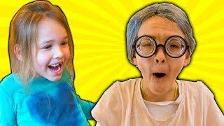 Amelia and Avelina baby magic adventure! Time rewind fun.