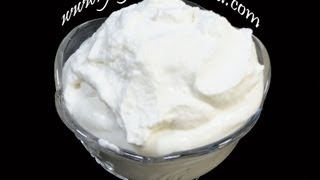 Whipped Cream - Cake Topping - Indian Recipes - Andhra Telugu Vegetarian Food Cuisine Vantalu