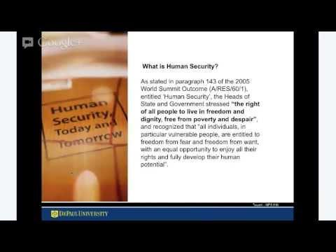 UNDERSTANDING SUSTAINABLE HUMAN SECURITY