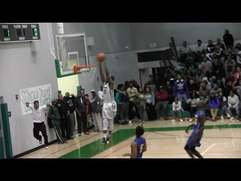 Tommie Groce of Dorsey puts on a dunk show