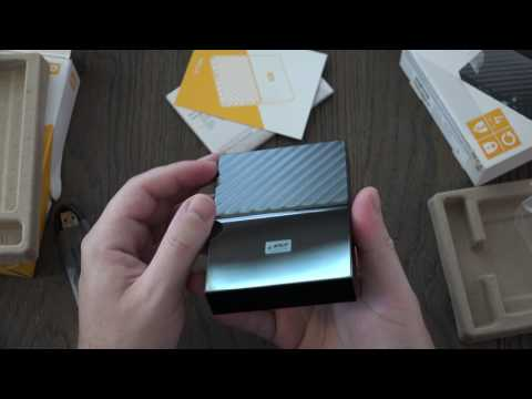 WD 4TB Black USB 3.0 My Passport Portable Unboxing