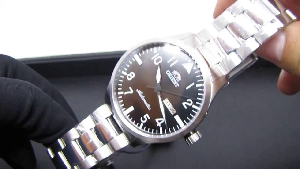 415ed14f1ba REVIEW  Relógio Orient Automático 469SS055 Pilot Pulseira de Aço ...