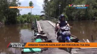 Jembatan Terapung Karya Acay jadi Penghubung Tiga Desa - Kompas TV Pontianak