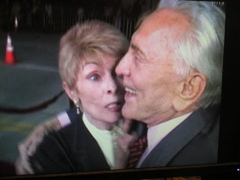KIRK DOUGLAS chided by JANET LEIGH for what he wrote in his book