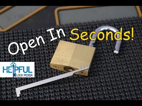 [143] How To Pick (Bypass) A Master Lock 140 In Seconds!