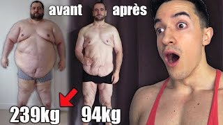 IL PERD 137KG EN 1AN ! INCROYABLE TRANSFORMATION !!