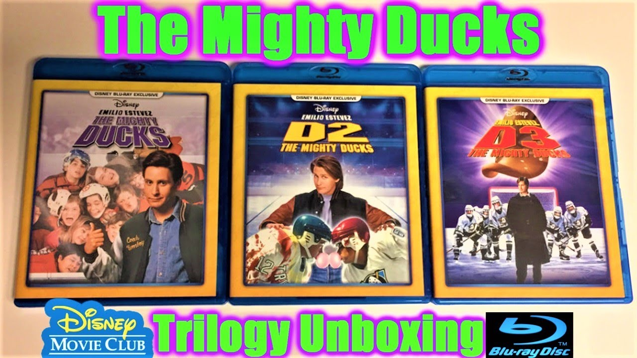 57637dc3e The Mighty Ducks Blu-ray Trilogy Unboxing - Disney Movie Club Exclusives