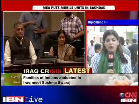 Sushma Swaraj meets worried family members of Indians stuck in Iraq