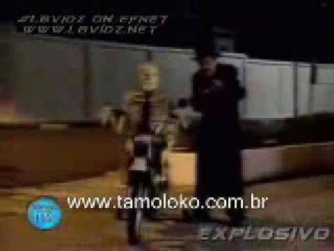 brazilian hidden camera - taxi skeleton and bike