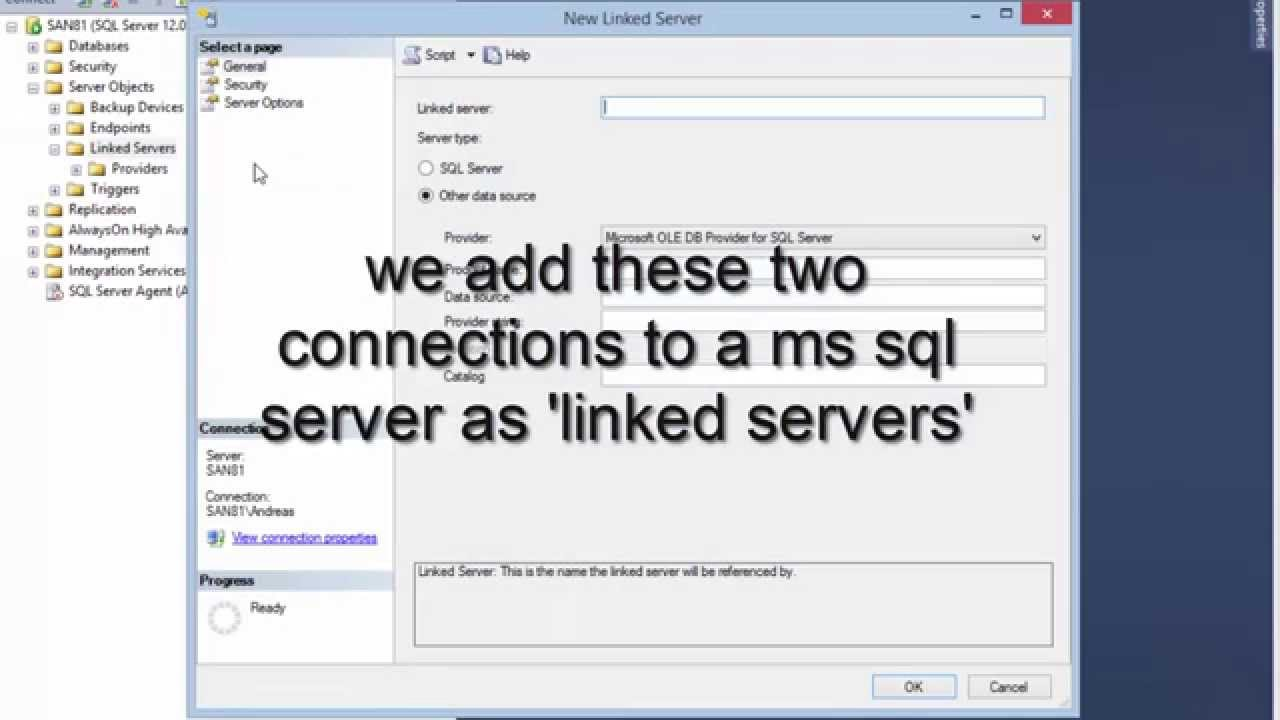 How to: query data from three servers in one SQL