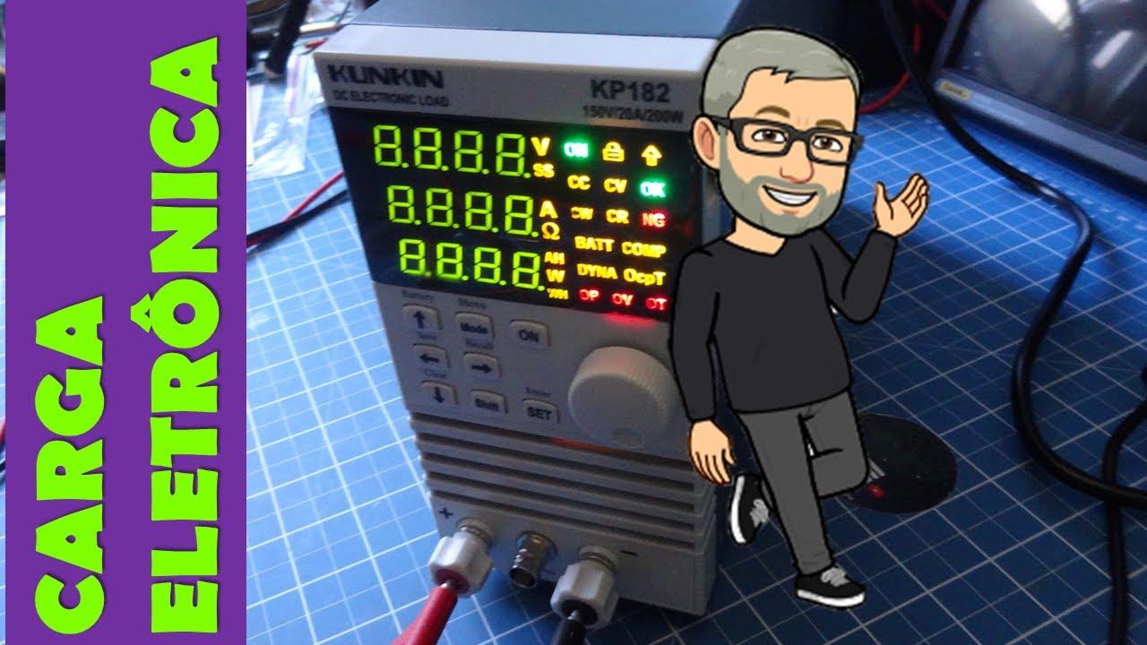 Carga Eletrônica para testes de bancada e de baterias