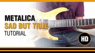 How to play Sad But True from METALLICA - Electric Guitar GUITAR LESSON