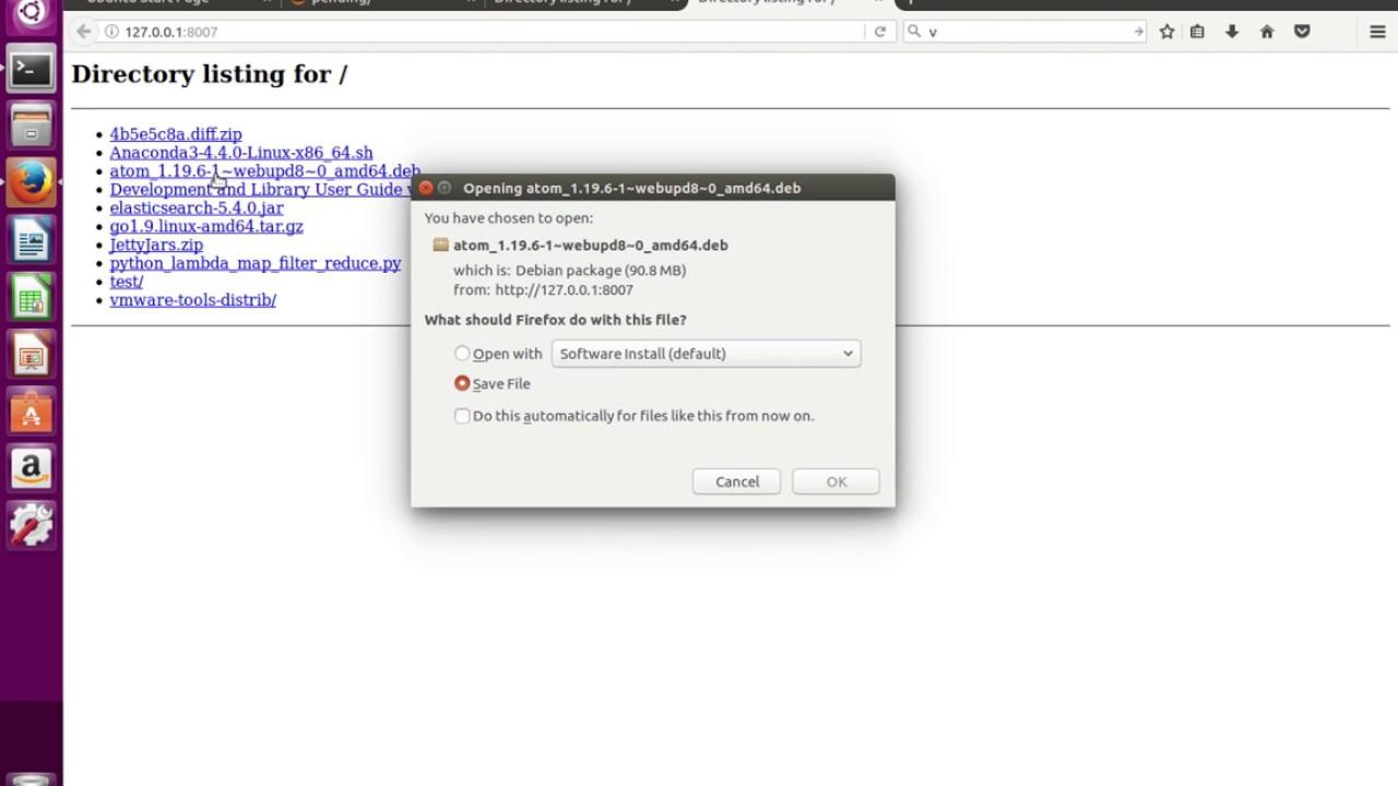 Python 3 http server equivalent of python -m SimpleHTTPServer