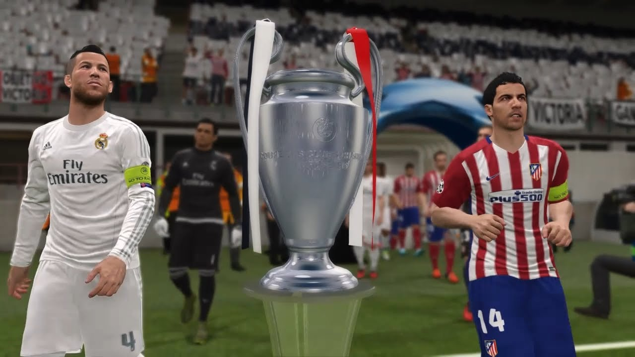 Pes 2016 Uefa Champions League Final Atletico Madrid Vs Real
