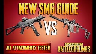 PUBG GUIDE | NEW SMG GUIDE | UMP VS VECTOR | ALL ATTACHMENTS TESTED! TRAINING GROUNDS 15