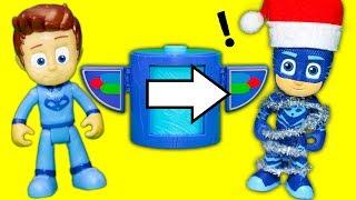 PJ MASKS Romeo Zaps Transforming Towers Christmas Surprises Funny Toy Pardoy