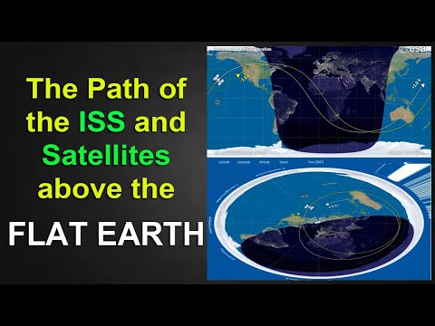 The Path of the ISS & Satellites above the F.L.A.T - E.A.R.T.H