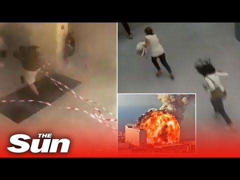 New footage of huge explosion ripping through Beirut hospital
