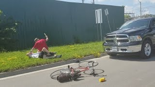 Pickup truck driver attacks cyclist with club in Peterborough